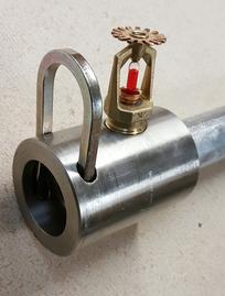 Firebar fire suppression piping